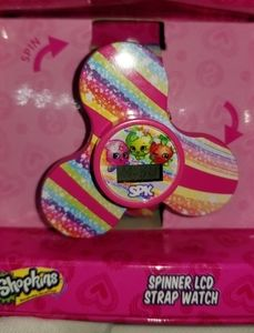 Rare Shopkins LCD Spinner Watch